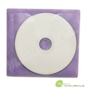 100 Non Woven CD DVD Purple Color Double Sided Plastic Sleeve - HOLD 200 discs