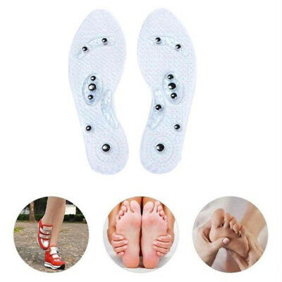 2 Pairs Men Women Fashion Magnetic Therapy Insole Silicone Weight Loss Insoles