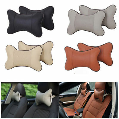 2PCS Travel Auto Car Seat Head Neck Rest Cushion Pad HeadRest Bone Pillow Soft