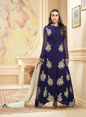 b66066ecd1 Indian Pakistani Designer Anarkali Salwar Kameez Wedding Party Royal Blue