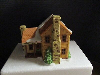Department 56 New England Village Series, TIMBER KNOLL LOG CABIN, #6544-7, 1987