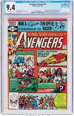 The Avengers Annual #10 (Marvel, 1981) CGC NM 9.4 White pages....