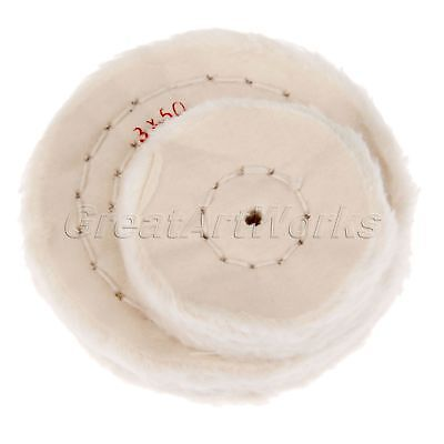 "2""- 8"" White Cotton Buffing Polish Wheel Pad Grinding Craft Jewelry Metal Wood"