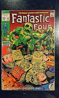 Fantastic Four #85 (Marvel, 1969) Condition: Approx. GD....
