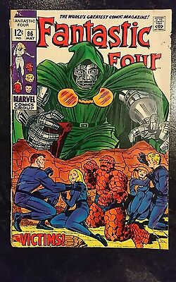Fantastic Four #86 (Marvel, 1969) Condition: Approx. GD....