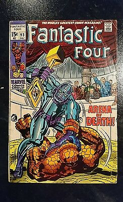 Fantastic Four #93 (Marvel, 1969) Condition: Approx. GD....