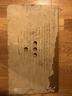 1840 Handwritten Receipt On Wood  By The Earl Of Spencer English London
