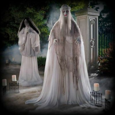 halloween props decorations life size animated scary ghostly bride outdoor yard