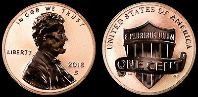 2018-S Reverse Proof Lincoln Cent - 50th Anniversary Set - RAW IN SAFLIP