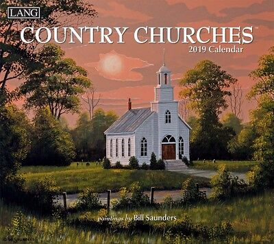 2019 Lang Calendar COUNTRY CHURCHES New Calender Fits Wall Frame Free Post