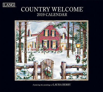 2019 Lang Calendar COUNTRY WELCOME New Calender Fits Wall Frame Free Post