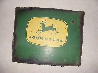 John Deere Machinery Cutout Metal Sign ~~