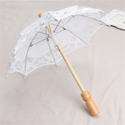 Cute Baby Photography Prop White Lace Umbrella Studio Shooting Accessories