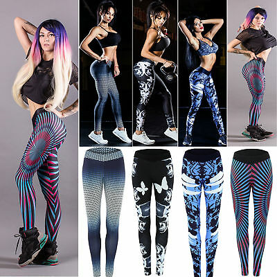 Womens Sports Gym Yoga Running Fitness Leggings Pants Athletic Workout Trousers