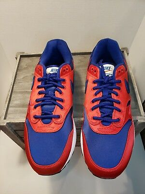save off 3f0e6 6a5e9 Nike Air Max 1 SE Satin Pack Mens AO1021-600 Red Royal Running Shoes Size