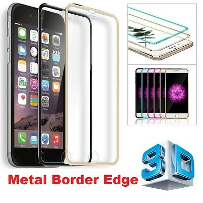 3D Curved Metal Edge Tempered Glass Screen Protector Case Cover for iPhone X/876