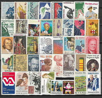 UNITED STATES USA STAMP COLLECTION PACKET of 40 DIFFERENT Stamps MNH (Lot 1)