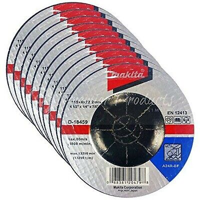 "Makita 10 Pack - 4.5"" Grinding Wheels For 4.5"" Grinders On Metal"