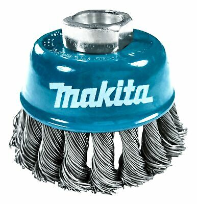 Makita 1 Piece - 3 Inch Knotted Wire Cup Brush For Grinders On Metal