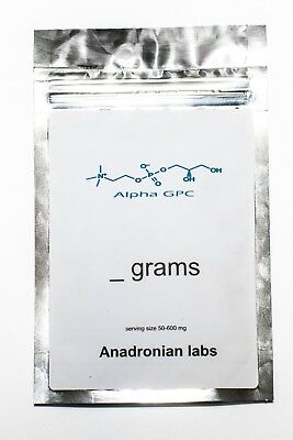 Alpha GPC PURE 99% 50g Powder by Anadronian labs USA