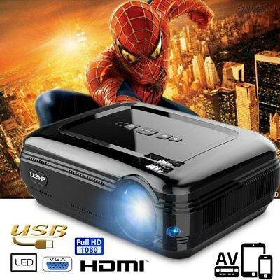 LESHP Proyector LED Bluetooth Android WiFi HDMI/USB/AV/VGA/TO Cine en Casa 1080P