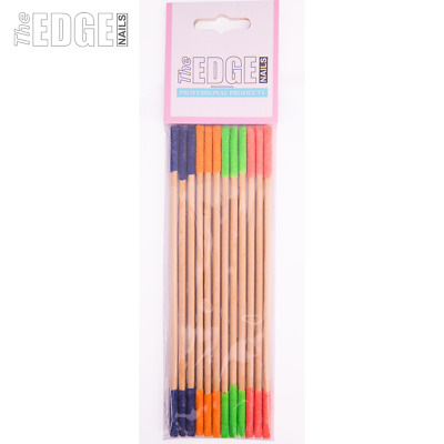 The Edge Nails 12 x Nail Filing Sanding Sticks File Hard to Reach Areas Easily