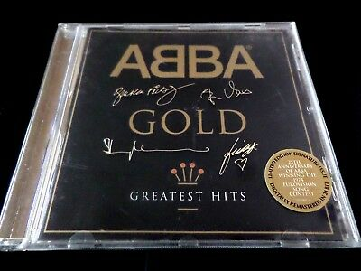 ABBA - Gold  CD  -  GREATEST HITS   *VG*  LIMITED 25TH ANNIVERSARY SIGNED  CD