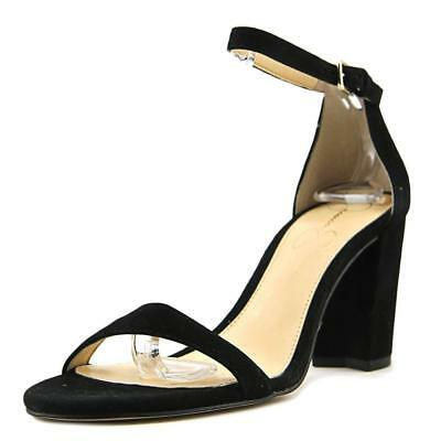 5bcce964eb Jessica Simpson Womens Monrae Fabric Open Toe Special, Black/Kidsuede, Size  10.0