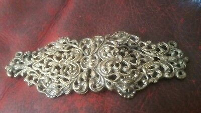 Antique  Silver Plate Buckle Nurses Belt Ornate