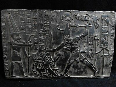 EGYPTIAN ARTIFACT ANTIQUITIES Ramesses II Smites Enemies Prisoners 2290-2275 BC