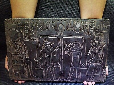 EGYPTIAN ARTIFACT ANTIQUITIES Afterlife Judgement Stela Relief 1285-1251 BCE