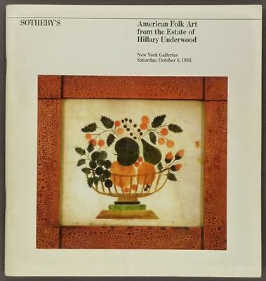 Book: Antique American Folk Art & Paintings - Hillary Underwood Collection -1983