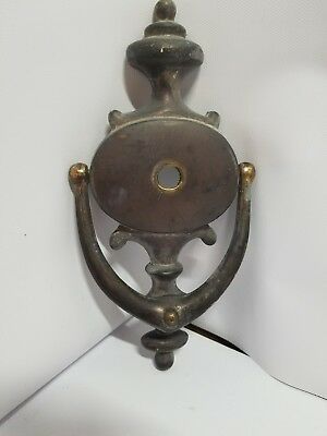 Vintage Solid Brass bronze victorian Door Knocker peep hole classic solid