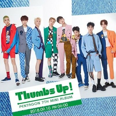 PENTAGON [THUMBS UP] 7th Mini Album CD+POSTER+Photo Book+Photo Card K-POP SEALED
