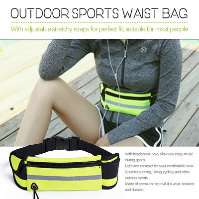 Waterproof Sports Waist Bag Running Jogging Belt Pouch Fanny Pack For Phone CO