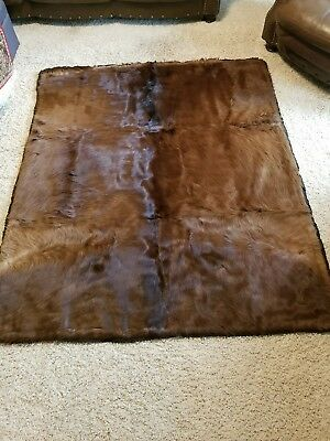Authentic Antique John Figved horsehide horse blanket fur tannery western