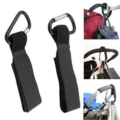 4pcs Baby Stroller Pram Clip Hooks Buggy Shop Bag Holder Pushchair Diaper Hanger