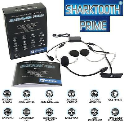 SHARK Headset SHARKTOOTH PRIME für Shark Helme Intercom Kommunikation NEU 2018