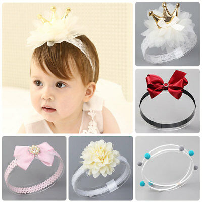 1pc Kids Girl Baby Toddler Cute Head Band Floral Lace Flower Headband Bow-Knot