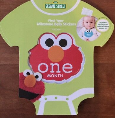 NEW Sesame Street First Year Milestone Belly Stickers for Photos Prop 0 To 12
