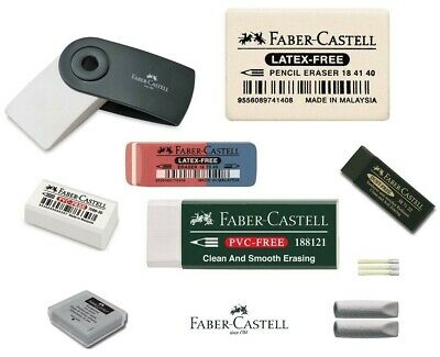 Faber Castell Artist Dust Free, Kneaded Putty, Sleeve, Pencil  Ink Rubber Eraser
