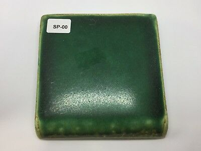 "SP-00 Forest Green Vintage 4x4"" Bullnose Antique Fireplace Mantle Tile"