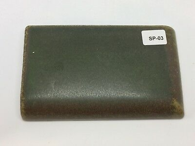"SP-03 Dark Green Vintage 3x5"" Bullnose Antique Fireplace Mantle Tile"