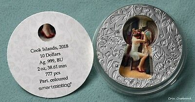 "2018 - Cook Islands $10 - "" Little Secrets ""  2 oz .999 silver coin w/OMP"