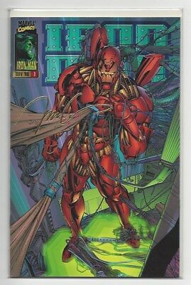 Iron Man #1 1996 22K Gold Jim Lee limited only 2500 produced
