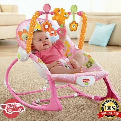 Infant Toddler Rocker Bunny Rocking Chair Feeding Napping Sleeper Musical Toys