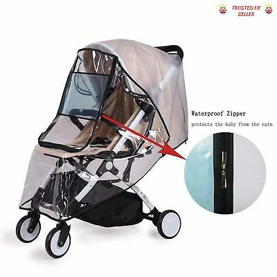 Universal Rain Cover Pushchair Stroller Buggy Pram Baby Travel Weather Shield