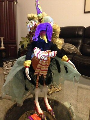 Patience Brewster Krinkles Girl Crow Retired 22 inches tall/Halloween/Thanksgivi