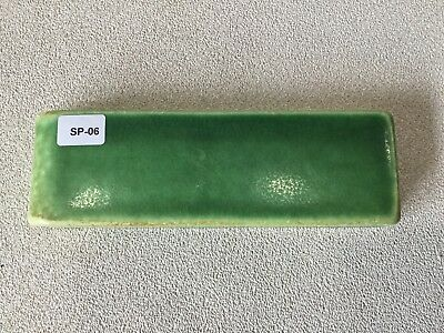 SP-06 Bright Green Vintage 1 7/8 x 6 Antique Fireplace Mantle Tile Trim Bullnose
