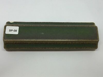 "SP-08 Dark Green Vintage 1 7/8 x 6"" Antique Fireplace 3D Mantle Tile Trim"